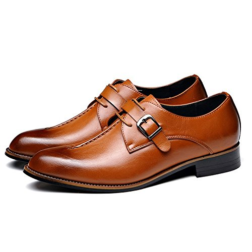 Low Slip 46 New Men Brown Leather Size shoppiauy Toe Oxfords Pointed High Quality Fashion Bottom Shoes Formal On Dress Flats Rubber 38 5SqXdxdwRB