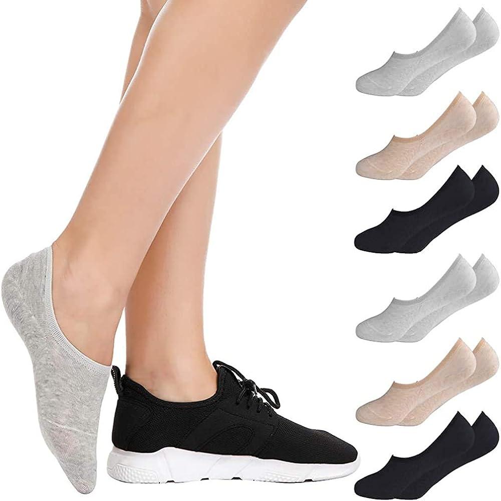 6 Pairs No Show Socks For Women Bestena Women S Cotton Invisible Socks Non Slip Socks Us Womens Shoe 5 8 At Amazon Women S Clothing Store