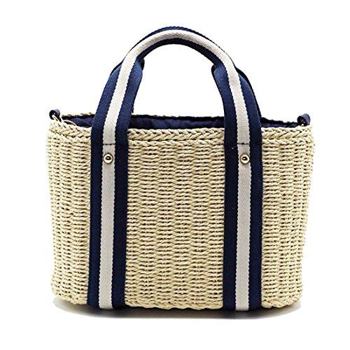 Con Bandolera verano Multicolor1 Asas paja bolso minimalismo De Dunland Y Bolso de Mujeres Elegante Bolsa qn1fI0