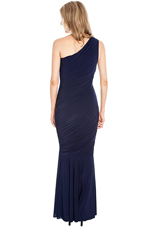 Blossoms Long Grecian Maxi Evening Fishtail Dress 11 Colours 8-14: Amazon.co.uk: Clothing