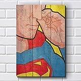 Placa Decorativa em MDF com 20x30cm - Modelo P405 - Super Homem - Humor