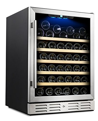 Kalamera 24'' Wine Cooler 54 Bottle Single Zone Touch Control Built-in with Tempered Glass Door