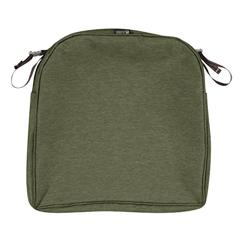 - Classic Accessories Montlake Patio Seat Cushion Slip Cover, Heather Fern, 20x20x2 Contoured