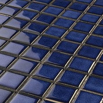 Keramik Mosaik Fliesen Xxmm Blau Amazonde Baumarkt - Glasmosaik fliesen blau
