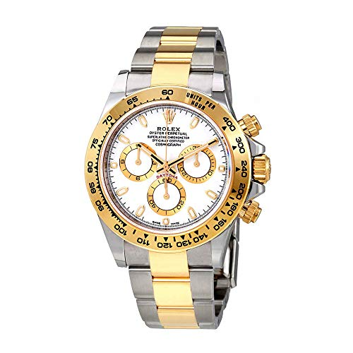 Rolex Cosmograph Daytona White Dial Stainless Steel and 18K Yellow Gold Rolex Oyster Bracelet Automatic Mens Watch -