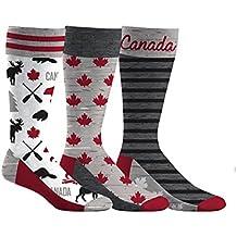 Men's Canada Beaver & Moose Dress Socks 3-Pack