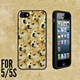 iphone 5 case custom made - Mr Doge MEME Custom made Case/Cover/skin FOR Apple iPhone 5/5S - Black - Rubber Case + FREE SCREEN PROTECTOR ( Ship From CA)