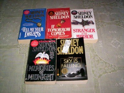 Sidney Sheldon - (Set of 5) - Not a Box Set (The Sky is Falling - Memories of Midnigt - A Stranger in the Mirror -If Tomarrow Comes - Tell Me Your Dreams)