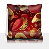 Luxlady Throw Pillowcase Polyester Satin Comfortable Decorative Soft Pillow Covers Protector sofa 16x16, 1 pack IMAGE ID: 30992655 High cholesterol medical concept with a human vessel or block
