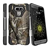 MINITURTLE Case Compatible w/ LG G6 Case| LG G6 Camo Case [SHOCK FUSION] High Impact Hybrid Dual Layer Case w/ Stand Hunters Camouflage