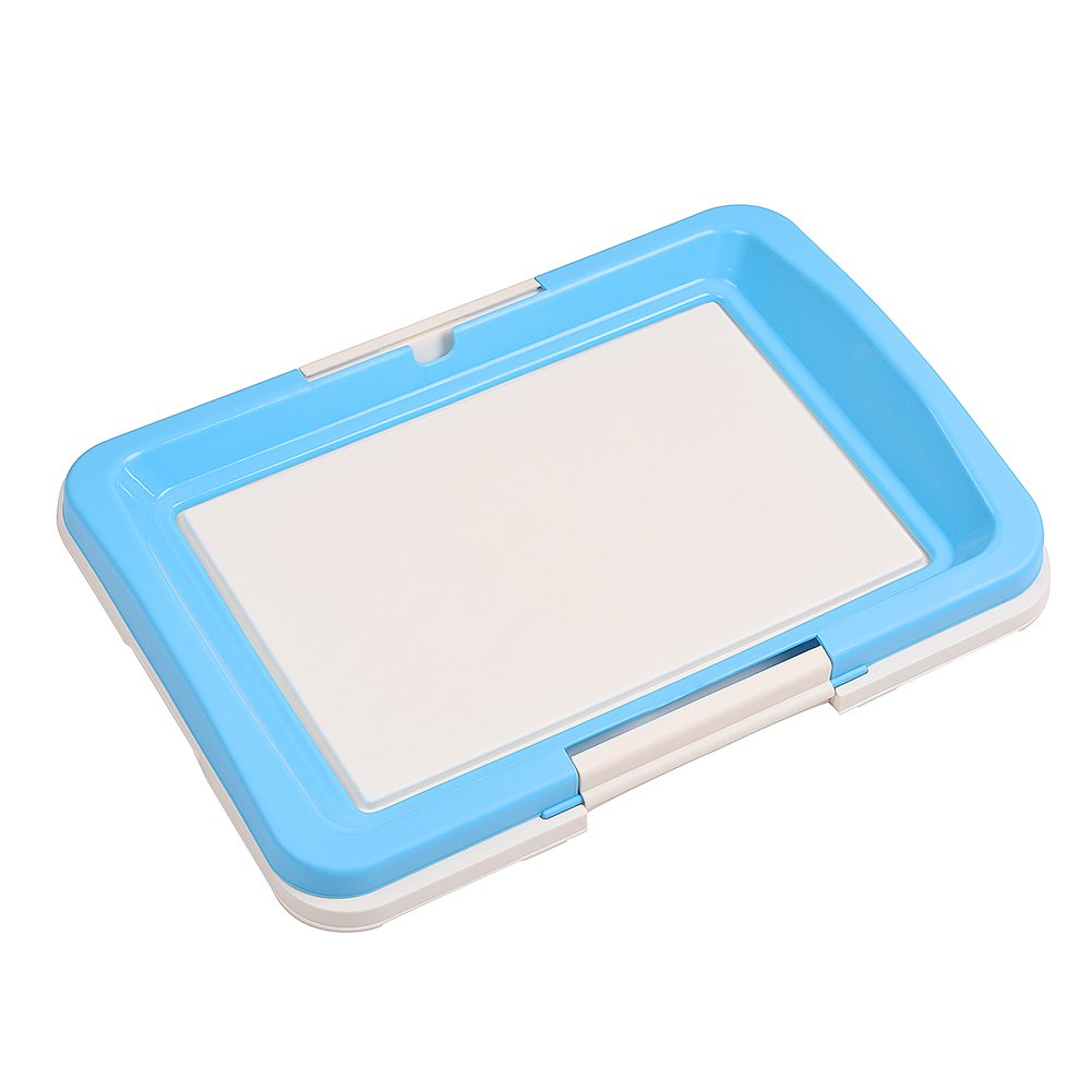 awtang Pet Training Toilet Small Sized Dog training Tray for Pets' Defecation Puppy Dog Potty Training Pad Blue