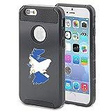 Apple iPhone 5 5s Shockproof Impact Hard Case Cover Scotland Scottish Flag (Black )