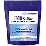 organic crystal sulfur - B4B Sulfur Organic Crystals, All Natural MSM Powder Supplement, 1 pound (16 oz.) Bag