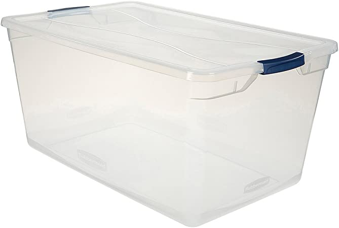 Rubbermaid Cleverstore Clear 4 Stackable Large Storage Containers