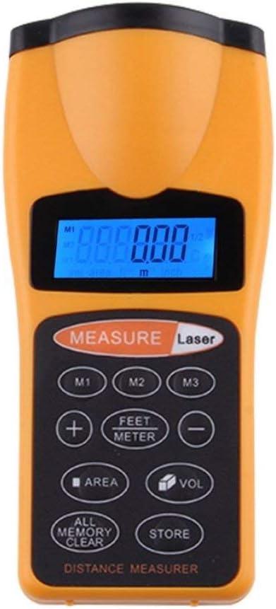 Deniseonuk Digital LCD Ultrasonic Distance Measure Tape Measure Meter Laser Designator Point Rangefinder Area Calculator Laser Pointer