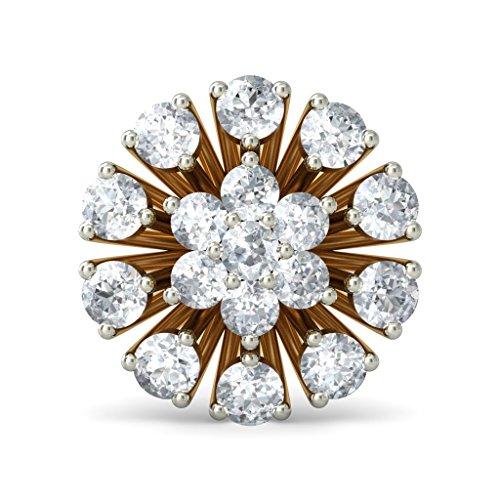 14K Or jaune 0,71CT TW White-diamond (IJ | SI) Boucles d'oreille à tige