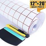 Clear Transfer Paper Tape Roll 12 Inch ×20 Feet
