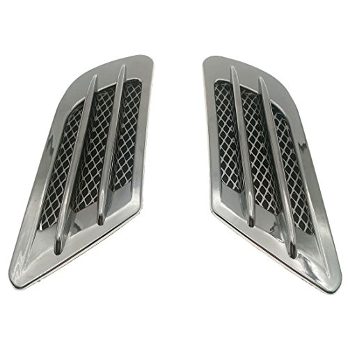 ZYHW 2Pcs Chrome Tone Universal Self-adhesive Air Flow Vent Fender Side Decor Sticker for Car (Vent Ton)