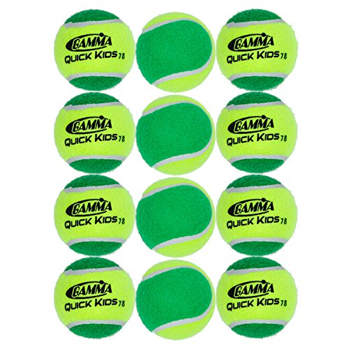 Price comparison product image Gamma Sports Kids Training (Transition) Balls,  Yellow / Green,  Quick Kids 78,  12-Pack