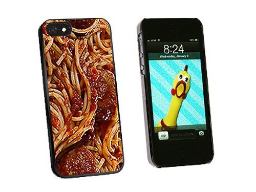 Graphics and More Spaghetti Pasta Meatballs Sauce Snap-On Hard Protective Case for iPhone 5/5s - Non-Retail Packaging - Black