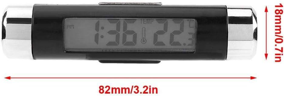 Liukouu Display Digitale retroilluminato a LED con termometro per Orologio elettronico Auto Multifunzione
