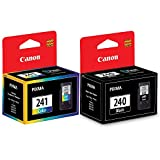 Canon PG 240 Black & Canon CL 241 Tri-Color Standard Yield Ink Cartridge