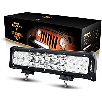 "Auxbeam LED Light Bar 12"" 72W Driving Light 24pcs 3W CREE Light Combo Beam Waterproof for Off-road Truck Car Military Mining Heavy Equipment"