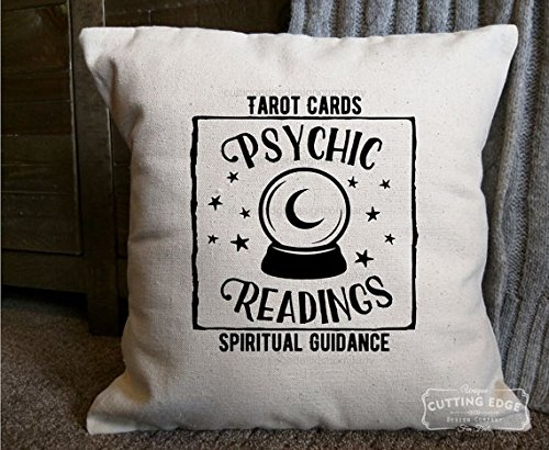 Experience spirit energy psychic readings cotton canvas natural pillow crystal ball pillow spiritual guidance gift for fandeluxe Images