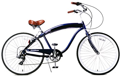 "Fito Men's Modena 2.0 Aluminum Alloy 7 Speed Beach Cruiser Bike, Blue, 18""/One Size"