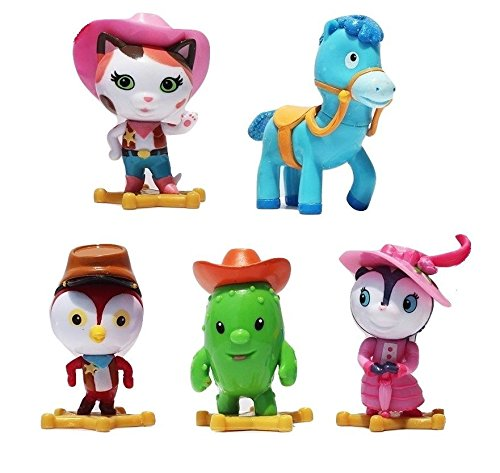 TOP Satisfied Sheriff Callie's Wild West Playset 5xPACK Figure Cake Topper TV Movie Toy Doll Sparky Deputy Peck Toby Priscilla Skunk