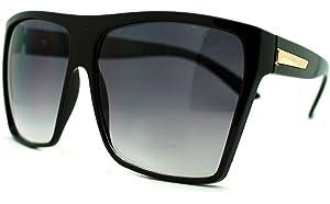 388206b77a Amazon.com  Large Retro Style Square Aviator Flat Top Sunglasses ...