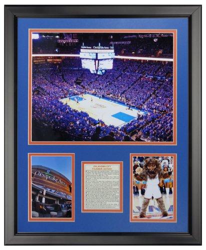 (Legends Never Die Oklahoma City Thunder - Chesapeake Arena Framed Photo Collage, 16