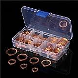 Hitommy 120pcs Copper Washer Kit Sump Plug Washer