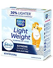 Fresh Step Lightweight Extreme with Febreze Freshness, Clumping Cat Litter, Scented, 15.4 Pounds