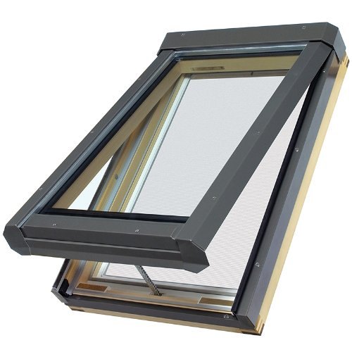 FAKRO FVE 68908 Electric Venting Skylight, Tempered Glass, 22-1/2-Inch x 45-3/4-Inch