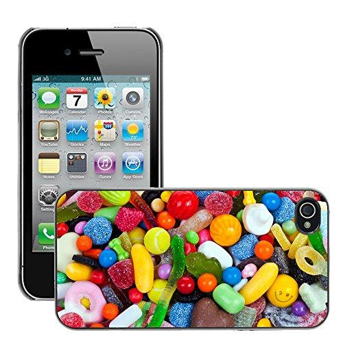 Hülle Case Schutzhülle Cover Premium Case // V00002772 Süßigkeiten // Apple iPhone 4 4S 4G