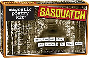 Magnetic Poetry - Sasquatch Kit - Words for Refrigerator - Write Poems and Letters on The Fridge - Made in The USA