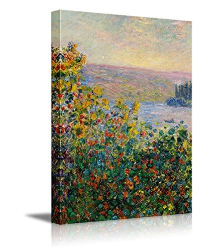 Claude_Monet Flower Beds at Vetheuil Impressionist Art