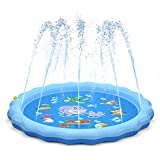 "Toys : QPAU Sprinkler for Kids, Sprinkle and Splash Play Mat 68"",Outside Toy Water Toys for Kids Outdoor, Outdoor Toys for Toddlers Age 3-5 (Blue)"