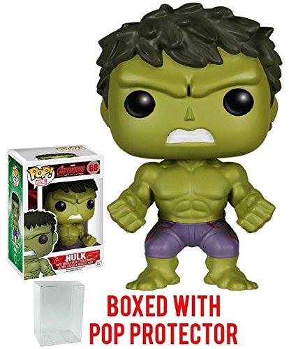 Funko Pop! Marvel: Avengers 2 - Hulk Vinyl Figure (Bundled with Pop BOX PROTECTOR CASE)