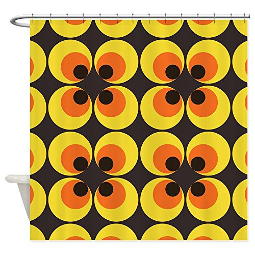 (CafePress 70s Wallpaper Shower Curtain Decorative Fabric Shower Curtain (69