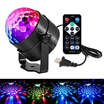 Amazon disco lights led party lights sound activated strobe light disco lights led party lights sound activated strobe light stage light disco ball dj lights for mozeypictures Image collections