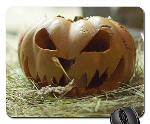 Mouse Pad - Nature Food Vegetable Pumpkin Trick Treat Night -