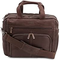 Kenneth Cole Reaction Columbian Leather Expandable Briefcase