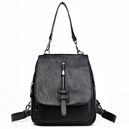 Mefly Ladies Black Fashion Leather Bag Navy Ladies 76nr7qP8