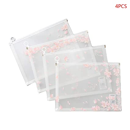 4 bolsas transparentes para documentos de Cherry Blossoms ...
