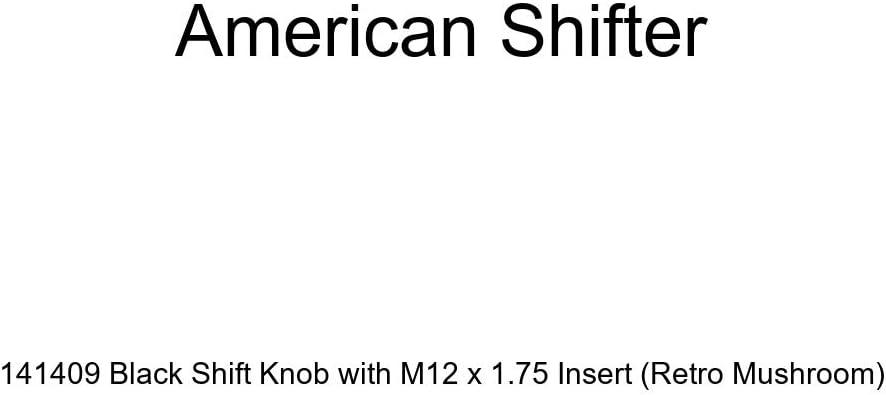 Retro Mushroom American Shifter 141409 Black Shift Knob with M12 x 1.75 Insert