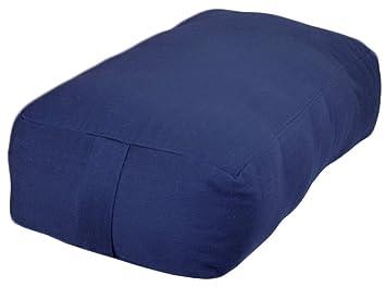 small rectangular cotton yoga bolster blue - Yoga Bolster