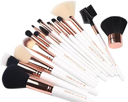 ZOREYA 15 Piece Makeup Brush Set with Luxury Makeup Brushes and Exclusive Brush Holder