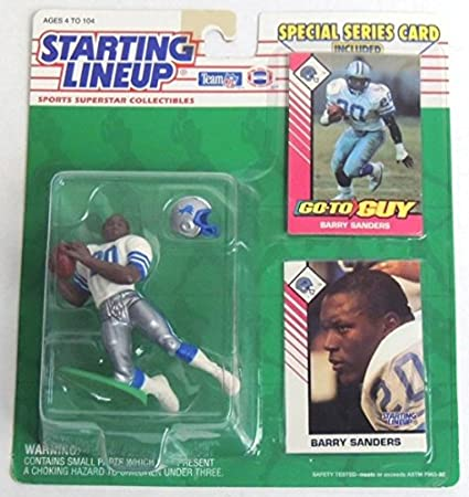Barry Sanders 1992 Starting Lineup NFL Football action figure LIONS